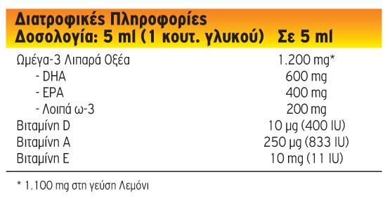 3 x Moller's Μουρουνέλαιο Lemon Παραδοσιακό Μουρουνέλαιο σε Υγρή Μορφή με Γεύση Λεμόνι, 3 x 250ml-0